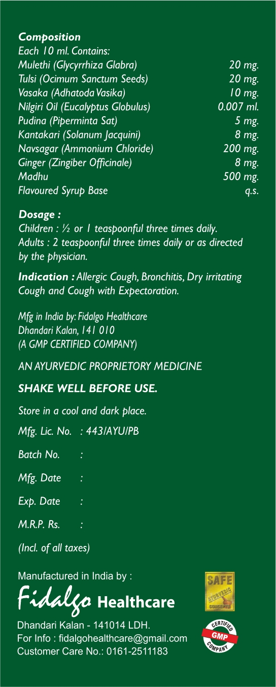 Honeycof Syrup comp